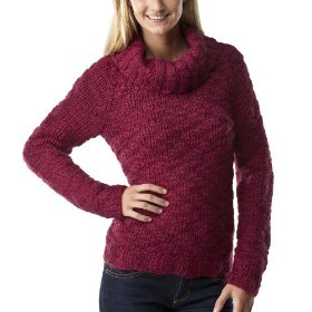 Mossimo supply co. juniors handknit cowneck pullover sweater - dazzleberry