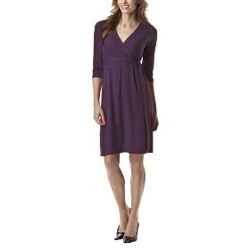 Merona® petites faux wrap knit dress - purple