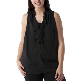 Women's plus-size mossimo® ebony sleeveless v-neck fashion top