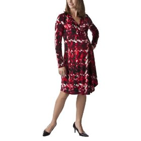 Liz lange® for target® maternity long-sleeve wrap dress - ebony/red