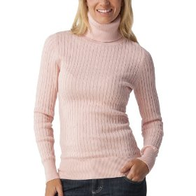 Merona® women's cable turtleneck sweater - pink metal