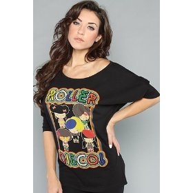 Harajuku lovers the roller disco top,tops (l/s) for women