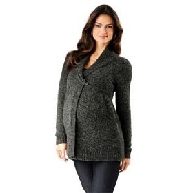 Motherhood maternity: loved by heidi klum long sleeve shawl collar maternity cardigan