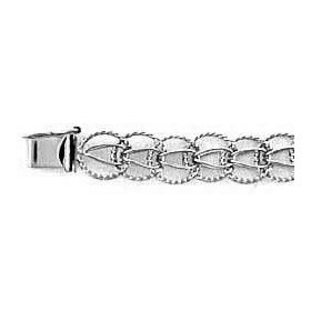7 inch charm bracelet, sterling silver by rembrandt charms