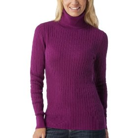 Merona® women's cable turtleneck sweater - berry