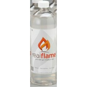 Real flame firepot and fireplace pour gel fuel - 2 pack