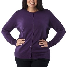 Women's plus-size merona® wood violet long-sleeve cardigan sweater