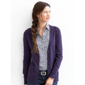 Banana republic italian spun pointelle cardigan