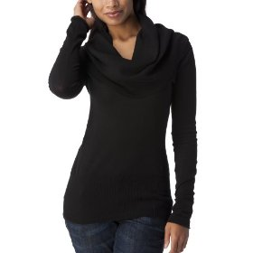 Converse® one star® womens deep cowl neck kate sweater - black