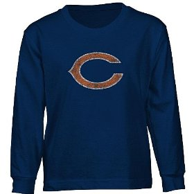 Reebok chicago bears long sleeve boys (4-7) faded logo t-shirt