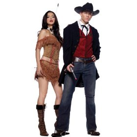 4pc wyatt earp gun slinger sheriff sexy holiday party costume