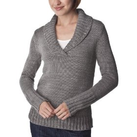 Merona® women's shawl collar pullover sweater w/sequins - heather grey