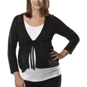 Liz lange® for target® maternity elbow-sleeve cardigan sweater - ebony