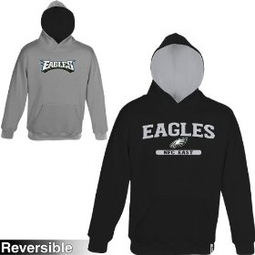 Reebok philadelphia eagles boys (4-7) home & away reversible hooded sweatshirt