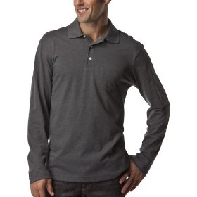 Merona® long-sleeve polo - charcoal