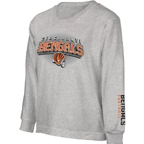 Reebok cincinnati bengals boys complex long sleeve t-shirt
