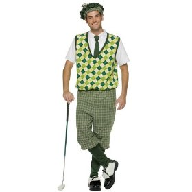 Old tyme golfer costume adult