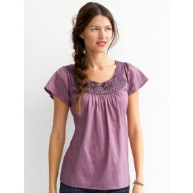 Banana republic petite karine necklace tee