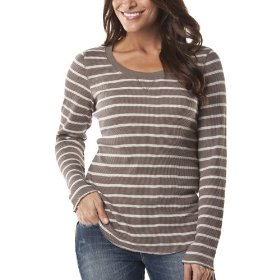 Merona® women's thermal top - river birch/birch