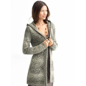 Banana republic marled hooded cardigan