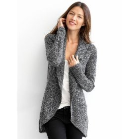 Banana republic petite marled sweater jacket