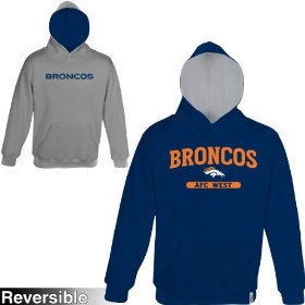 Reebok denver broncos boys (4-7) home & away reversible hooded sweatshirt