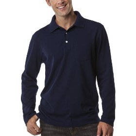 Merona® long-sleeve polo - navy