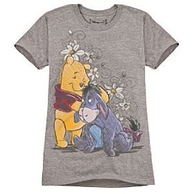 Disney organic eeyore and pooh tee