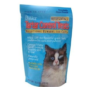 Butler Nutrisentials Tartar Control Treats for Cats, 2.5 oz, 10 Pack