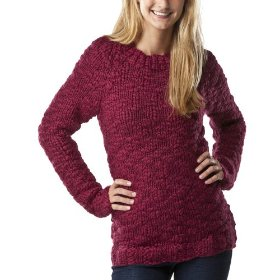 Mossimo supply co. juniors handknit pullover sweater - dazzleberry