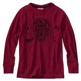 Boys' mossimo supply co. red long-sleeve thermal shirt