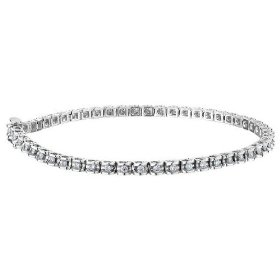Diamond tennis bracelet 1.0 carat (ctw) in sterling silver