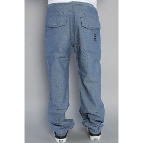 Crooks and castles the raleigh chambray pants raw indigo,pants for men