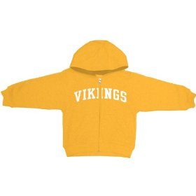 Reebok minnesota vikings boys (4-7) full zip hooded sweatshirt