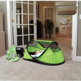 Kidco peapod portable self-inflating travel bed - lime