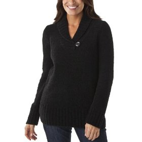 Merona® women's chenille shawl collar pullover sweater - black