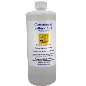 950 ml Concentrated Sulfuric Acid, 98+% Pure, H2S04