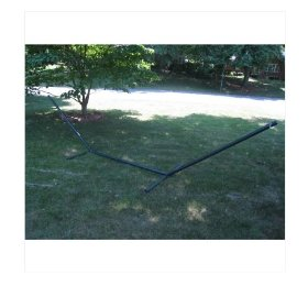 Large 15 ft heavy duty steel hammock stand, made for hammocks 11' to 13' in length. 450 lb w