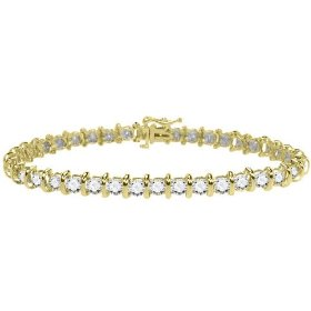 Diamond tennis bracelet 2 carat (ctw) in 10k yellow gold