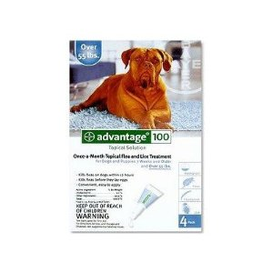 Advantage 4-Month Flea Medication for Dogs over 55lbs.(Blue)