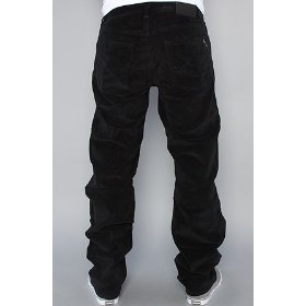 Lrg core collection the grass roots true straight corduroy pants in black,pants for men