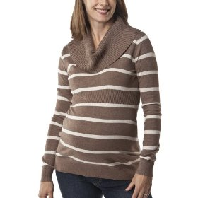 Liz lange® for target® maternity long-sleeve cowl-neck sweater - brown/cream