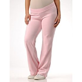 Motherhood maternity: under belly velour relaxed fit maternity active pants