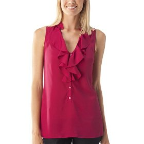 Mossimo® women's ruffle front tank top - berry