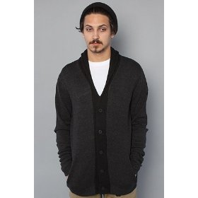 Nixon the regal cardigan in black heather,sweaters for men