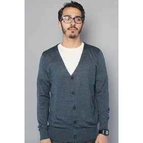 Nixon the howarfd cardigan in navy heather,sweaters for men