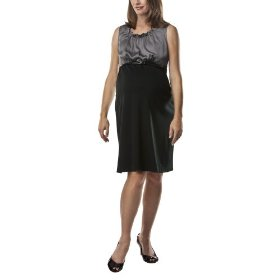 Liz lange® for target® maternity sleeveless belted ponte dress -ebony/gray