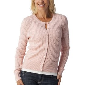 Merona® women's cable cardigan sweater - pink metal