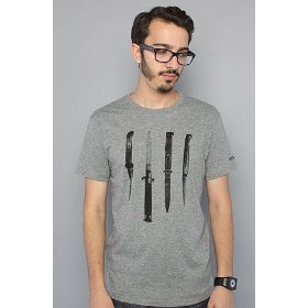 Nixon the knives tee in dark heather,t-shirts for men