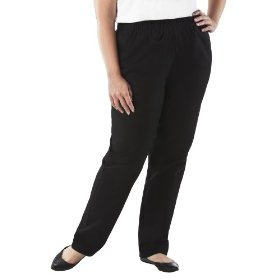 Women's plus-size cherokee® black straight-leg elastic-waist pants